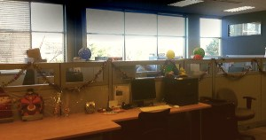 Our Customer Support area (decorated for CS appreciation week).