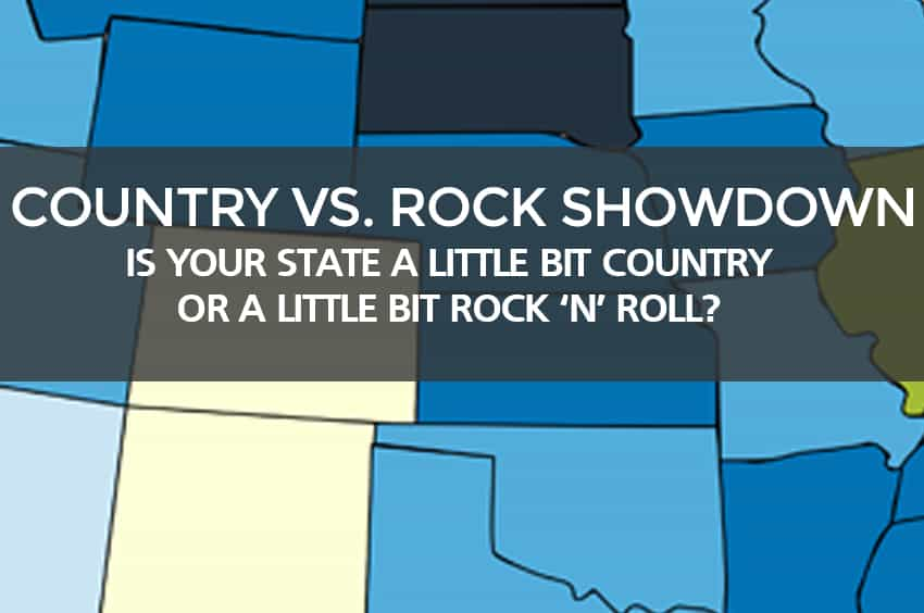 Country sheet music vs. Rock sheet music
