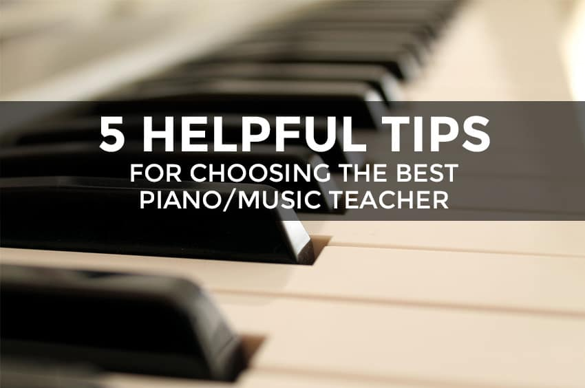 How to choose a music teacher