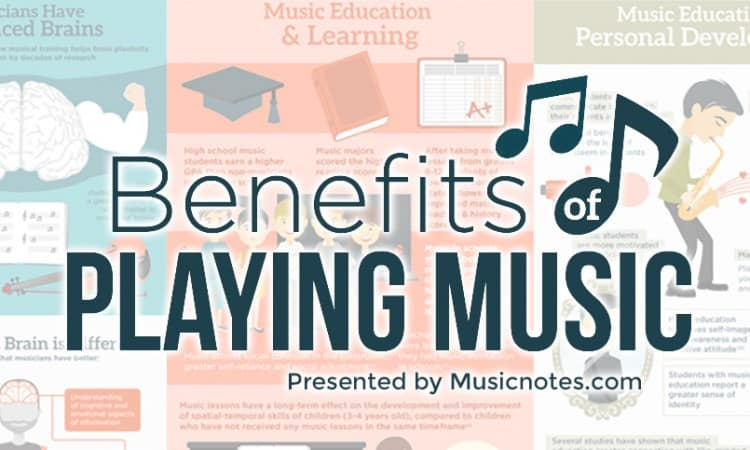 Benefits of Playing Music Infographic