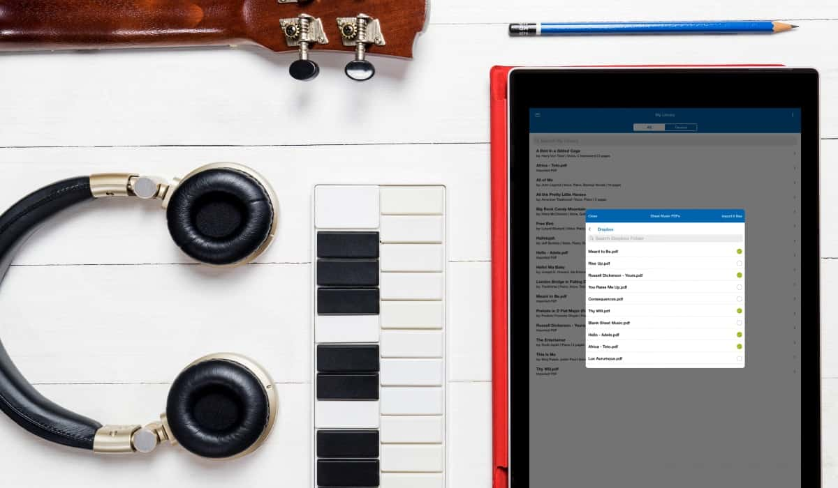 Musicnotes Dropbox Import