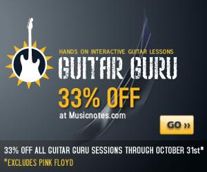 33% off all Guitar Guru Sessions