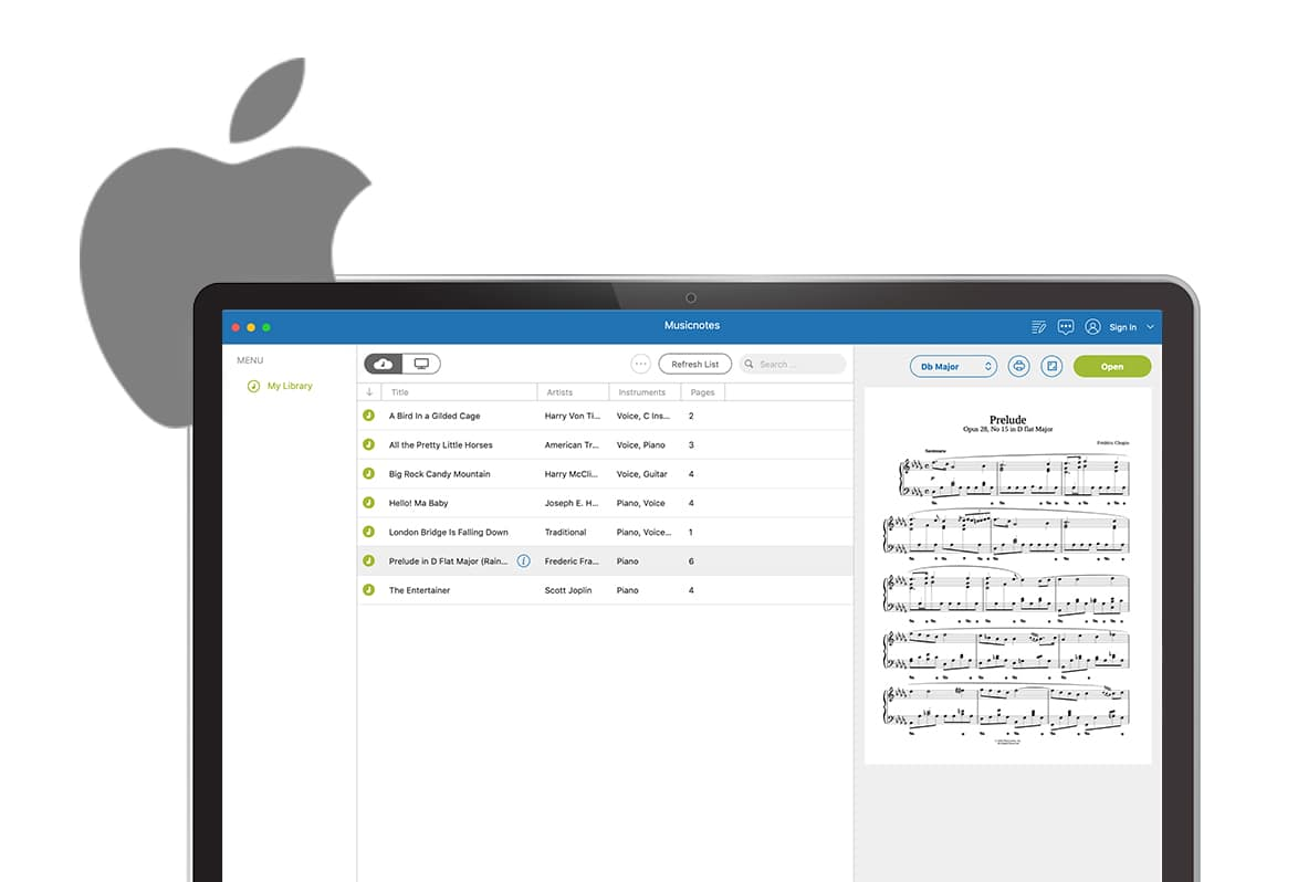 music reading software for mac