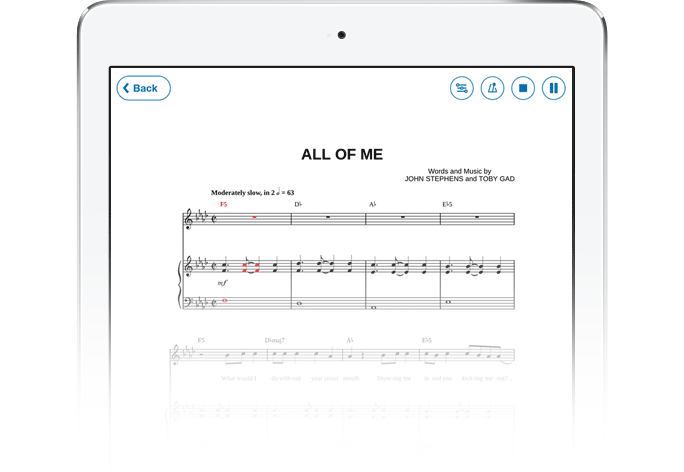 sheet music playback