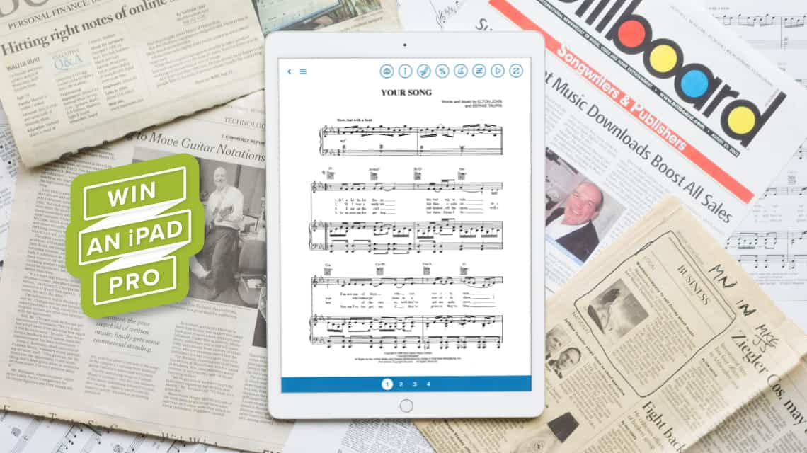 Celebrate 20 years of Musicnotes and Win an iPad Pro
