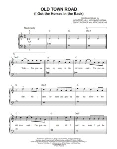 old-town-road-sheet-music