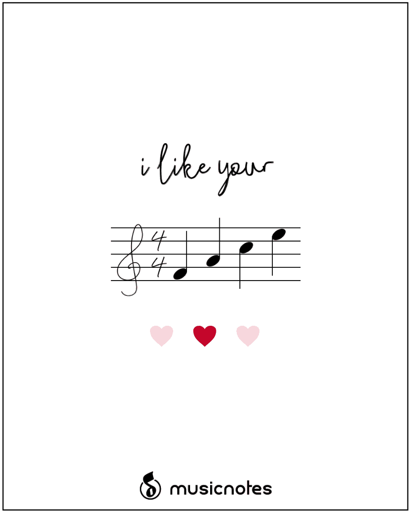image about Printable Music Notes known as 12 Musical Valentines Working day Playing cards (With Absolutely free Printables