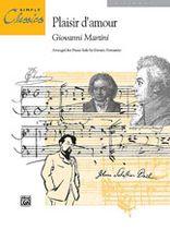 Jean Paul Martini - Plaisir d'Amour - Music Book