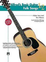 Alfred's Basic Guitar Folk Songs 1 & 2 - Music Book