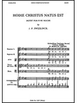 Jan Pieterszoon Sweelinck - Hodie Christus Natus Est - Music Book
