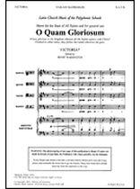 Tomas Luis De Victoria - O Quam Gloriosum - Music Book