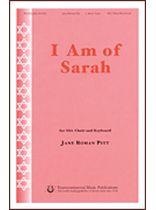 Jane Roman Pitt - I Am of Sarah - Music Book