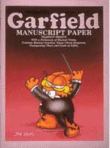 Garfield - Garfield Manuscript Paper 9 Inch. X 12 Inch. - Music Book