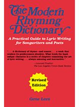 Gene Lees - The Modern Rhyming Dictionary - Revised Edition - Music Book