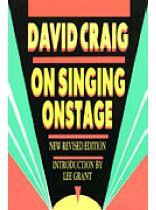 David Craig - On Singing Onstage - Music Book