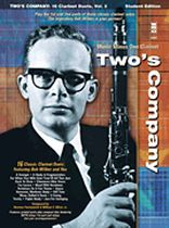 Bob Wilbur - Two's Company: 16 Clarinet Duets - Music Minus One - Music Book