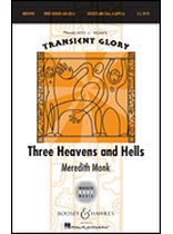 Meredith Monk - 3 Heavens and Hells - Transent Glory Series Soloists and SSAA, a cappella - Music Book