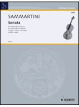Giovanni Battista Sammartini - Sonata In G Major - Music Book