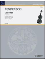 Krzysztof Penderecki - Cadenza - Music Book