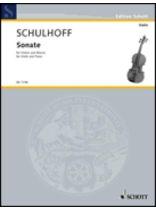 Erwin Schulhoff - Sonata - Music Book