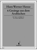 6 Gessnge Aus Dem Arabischen - Music Book