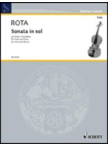 Nino Rota - Sonata In Sol - Music Book