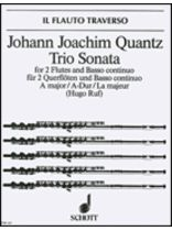 Johann Joachim Quantz - Trio Sonata In a Major - Music Book
