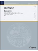 Johann Joachim Quantz - Concerto In G Major - Music Book