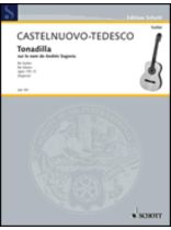 Mario Castelnuovo-Tedesco - Tonadilla on the Name Andrfs Segovia, Op. 170, No. 5 - Music Book