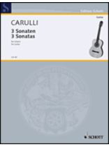 Ferdinando Carulli - Three Sonatas - Music Book