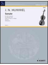 Johann Nepomuk Hummel - Viola Sonata In E-Flat Major, Op. 5/3 - Music Book