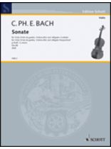 Carl Philipp Emanuel Bach - Sonata In G Minor, WQ88 - Music Book