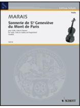 Marin Marais - Sonnerie De Ste. Genevifve Du Mont De Paris - Music Book