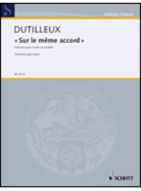 Henri Dutilleux - Sur Le Mome Accord - Violin and Piano Reduction - Music Book