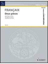 Jean Francaix - 2 Pieces - Music Book