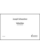 Joseph Schwantner - Velocities - For Solo Marimba - Music Book