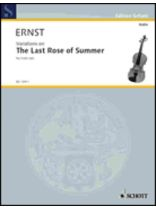 The Last Rose of Summer - Music Book