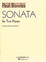 Paul Bowles - Sonata for 2 Pianos - Music Book
