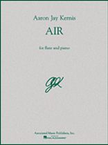 Aaron Jay Kernis - Air - For Flute and Piano - Music Book