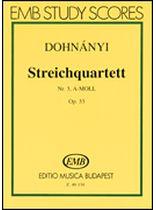 String Quartet No. 3 In a Minor, Op. 33 - Score - Music Book