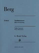 Alban Berg - Concerto for Violin and Orchestra - Violin and Piano Reduction With Marked and Unmarked Violin Parts Score and Parts - Music Book
