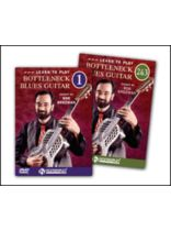 Bob Brozman - Learn To Play Bottleneck Blues Guitar - Complete Set: DVDS 1, 2 and 3 - Music Book