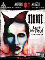 Marilyn Manson - Marilyn Manson - Lest We Forget: The Best of - Music Book
