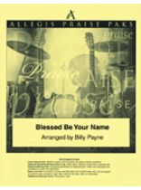 Matt Redman - Blessed Be Your Name - Allegis Praise Pak - Music Book