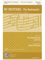 Felix Mendelssohn-Bartholdy - Die Nachtigall - SAB - The Nightingale - Music Book