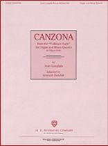 Jean Langlais - Canzona (From the Folkloric Suite) - For Organ and Brass Quartet, or Organ Solo - Music Book
