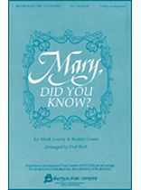 Mary, Did You Know? - 2-Part - Music Book