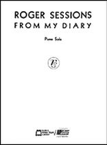 Roger Sessions - From My Diary - Music Book