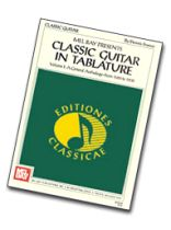 Classic Guitar In Tablature Volume 1 Music Book