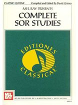 Complete Sor Studies for Guitar Music Book